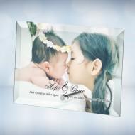 Color Imprinted Photo Beveled Horizontal Rectangle Jade Glass Plaque