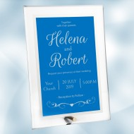 Acrylic Blue Complex Plaque