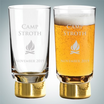 Sagaform Gold Club Beer Glasses 11.2oz, Pair
