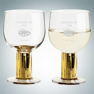 Sagaform Gold Club Multi-Purpose Glasses 8.5oz, Pair