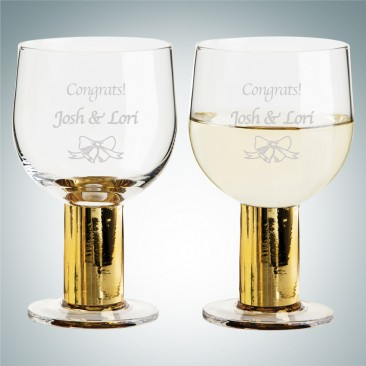 Sagaform Gold Club Multi-Purpose Glasses Pair, 8.5oz