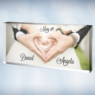 Pre-Designed Acrylic Wedding Photo Block
