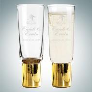 Sagaform Gold Club Champagne Glasses 6.1oz, Pair