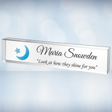 Color Imprinted Acrylic Nameplate