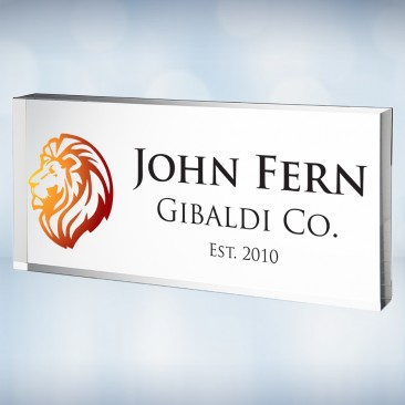 Color Imprinted Acrylic Executive Nameplate