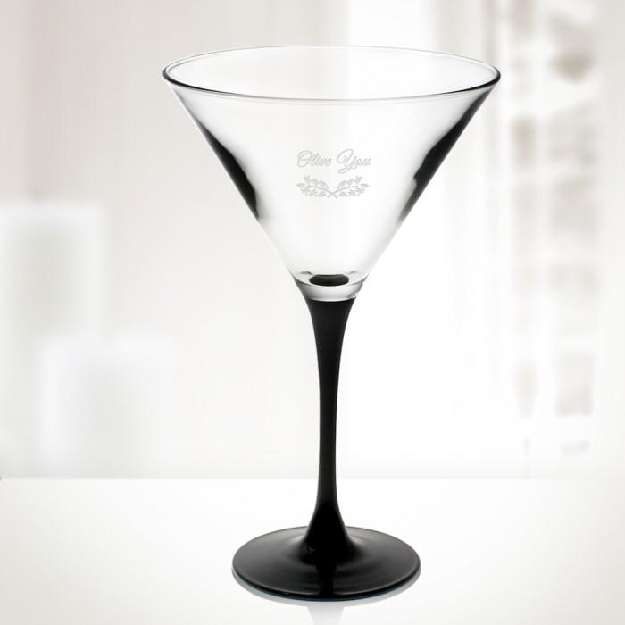 10oz Signature Black Martini Cup
