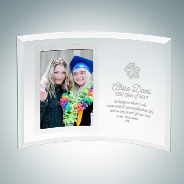 Academic Jade Curved Vertical Silver Photo Frame