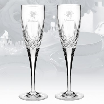 Waterford Lismore Nouveau Champagne Flute 7oz, Pair