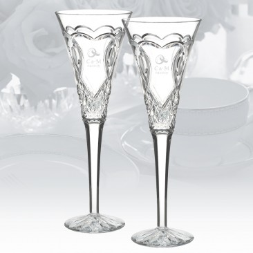 Waterford Wedding Toasting Flute, Pair