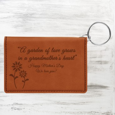 Rawhide Leatherette Keychain ID Holder