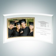 Academic Jade Curved Horizontal Gold Photo Frame