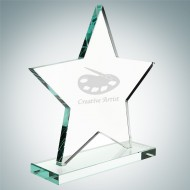 Jade Star Award with Base