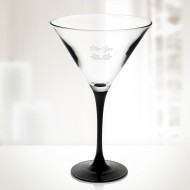 10oz Signature Black Martini Cup