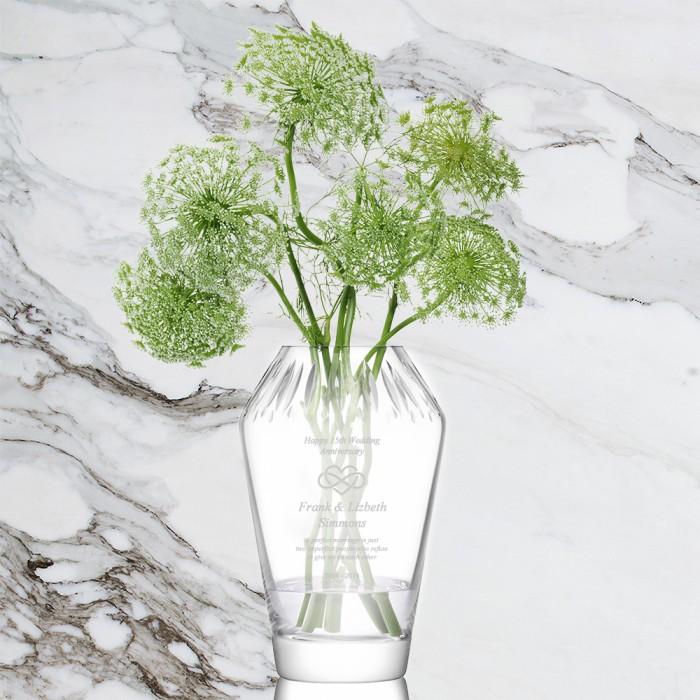 LSA FRIEZE Cut Top Vase
