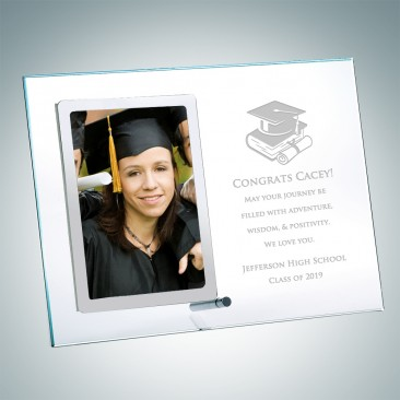 Academic Vertical Stainless Photo Frame with Silver Pole