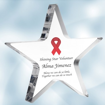 Color Imprinted Acrylic Star Award