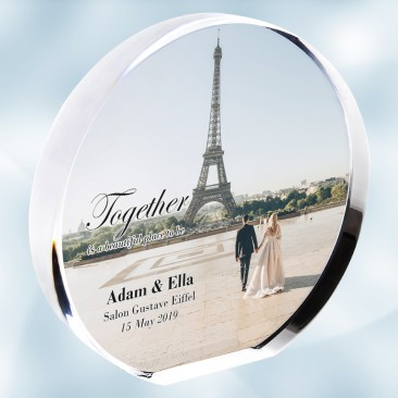 Color Photo Imprinted Acrylic Circle Plaque