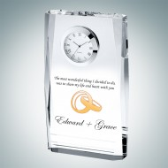 Color Imprinted Beveled Plaque Clock