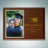 Academic Genuine Cherrywood Finish Horizontal Photo Frame Plaque