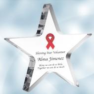 Color Imprinted Acrylic Star Award