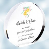 Color Imprinted Acrylic Circle Plaque