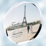 Color Imprinted Photo Acrylic Circle Plaque