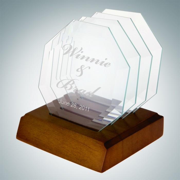 Octagon Glass Coaster- Single