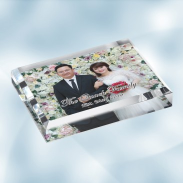 Color Imprinted Photo Acrylic Rectangle Paperweight