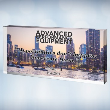 Pre-Designed Acrylic Photo Block- City Landscape