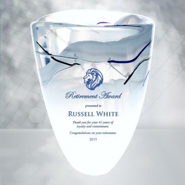 Kosta Boda White Contrast Vase