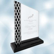 Acrylic Unite Diamond Black Ice Plaque with Base