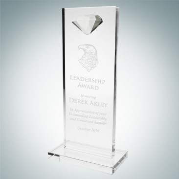 Tower Award with Diamond Accent