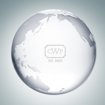 Clear Ocean Globe Paperweight