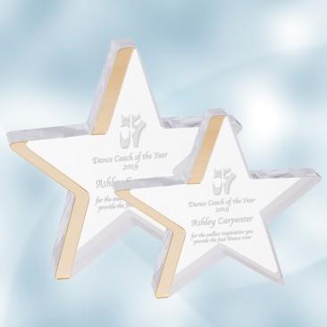 Acrylic Star with Gold Edge