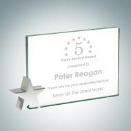 Jade Achievement Award with Chrome Star