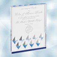 Acrylic Blue Diamond Mirage Award