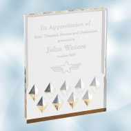 Acrylic Gold Diamond Mirage Award