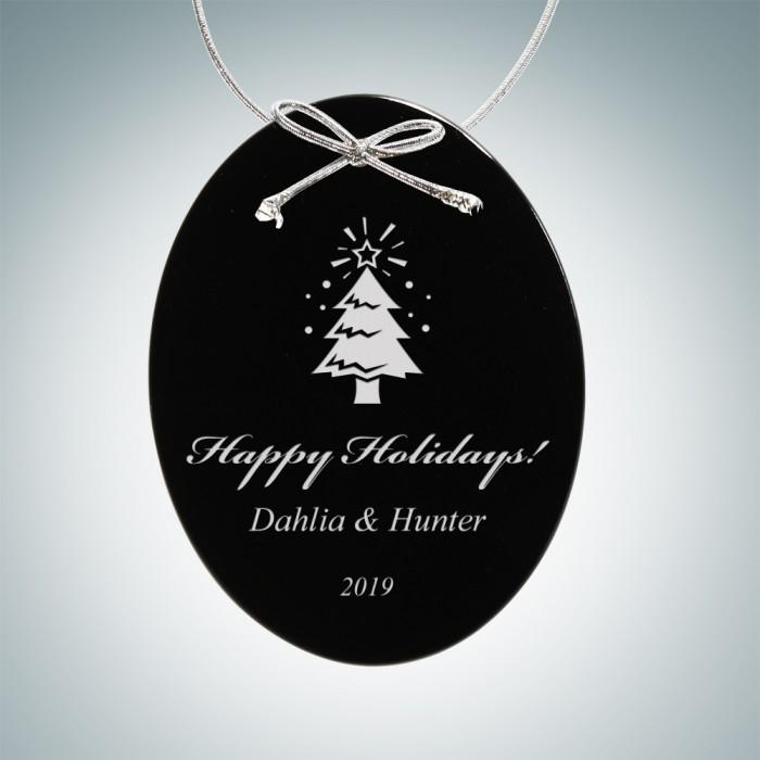 Black Oval Ornament