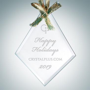 Jade Beveled Diamond Ornament