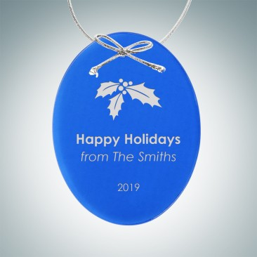 Blue Oval Ornament