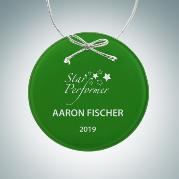 Green Circle Ornament