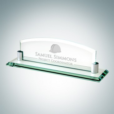 Jade Nameplate with Aluminum Holder