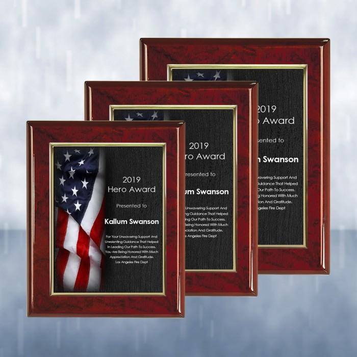 Pre-Designed U.S. Flag Rosewood