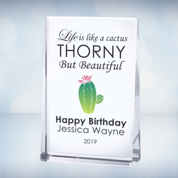 Color Imprinted Vertical Rectangle Plaque