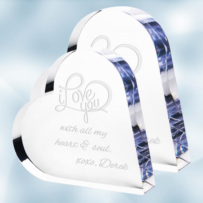 Pre-Designed ILY Acrylic Heart