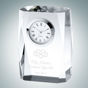Pre-Designed Infinite Love Beveled Column Clock