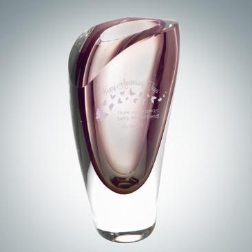 Art Glass Purple Lush Vase
