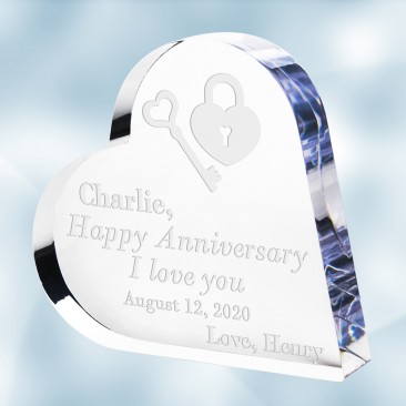 Acrylic Heart Keepsake Plaque