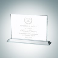 Horizontal Rectangle Plaque with Base