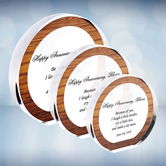 Color Imprinted Acrylic Circle P